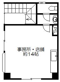 シャルマンコート長田1階事務所店舗間取図